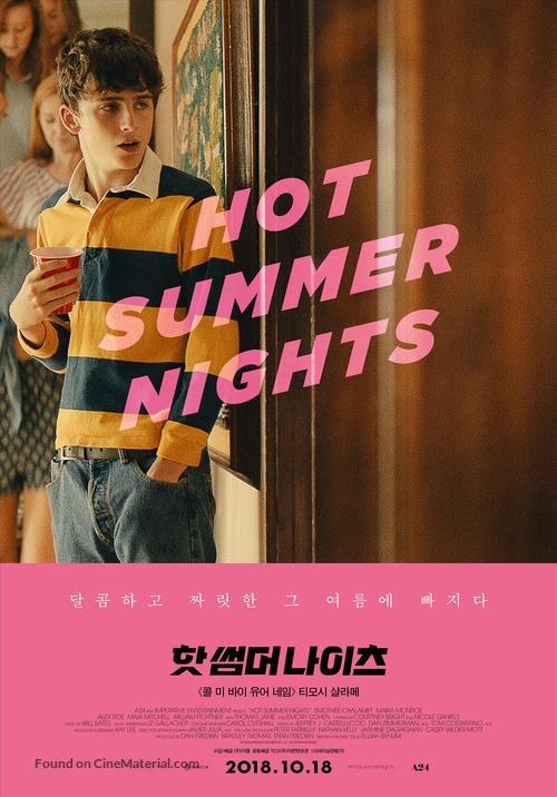 Hot Summer Nights 2018 South Korean Movie Poster