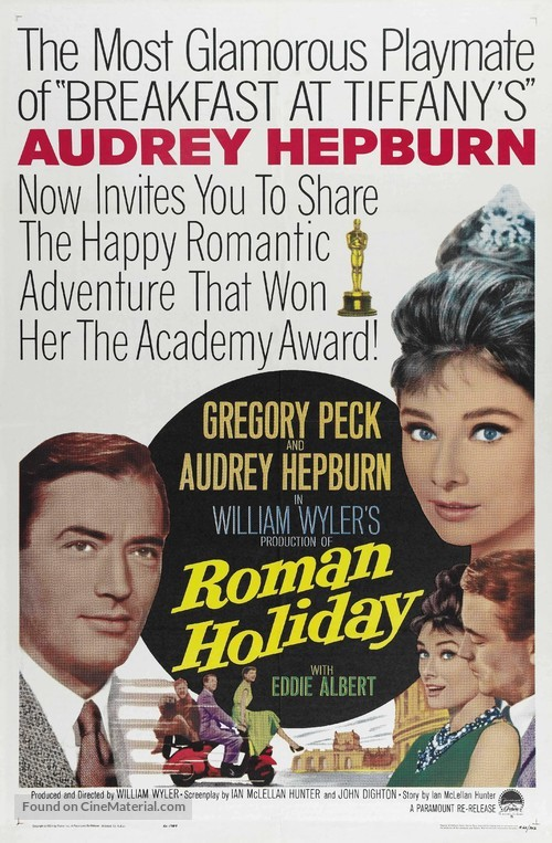 Roman Holiday - Re-release movie poster