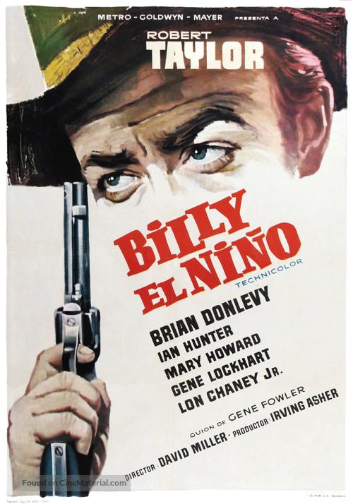 Billy the Kid - Spanish Movie Poster