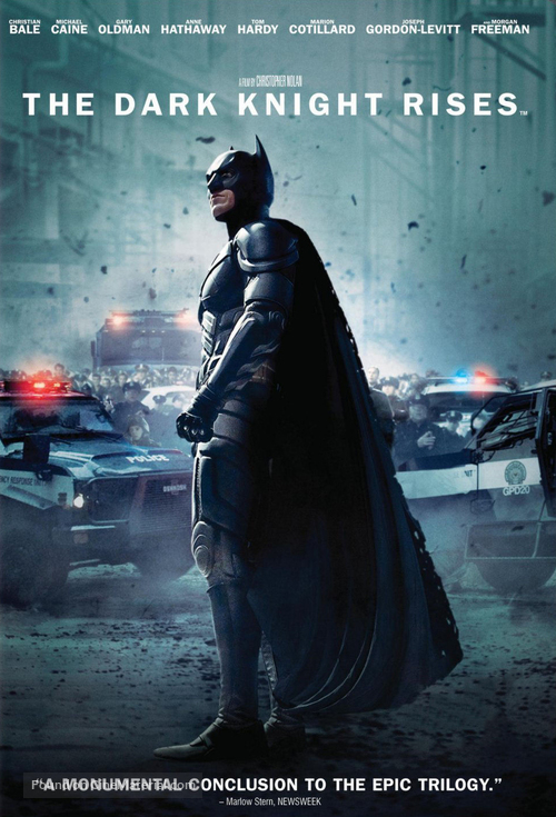 The Dark Knight Rises - DVD movie cover