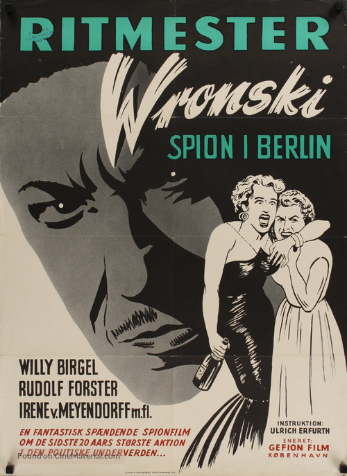 Rittmeister Wronski - Danish Movie Poster