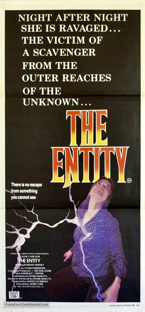 The Entity - Australian Movie Poster