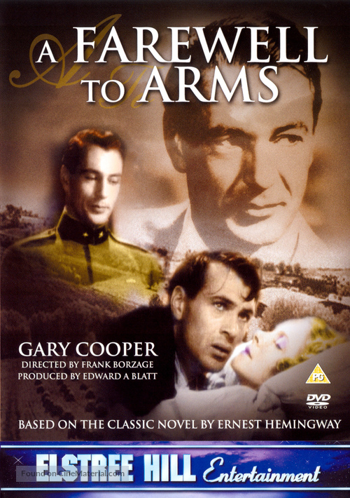 A Farewell to Arms - British DVD movie cover