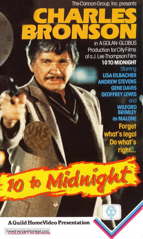 10 to Midnight - VHS movie cover