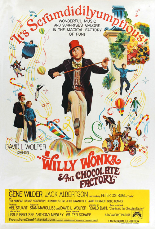 Willy Wonka & the Chocolate Factory - Australian Movie Poster