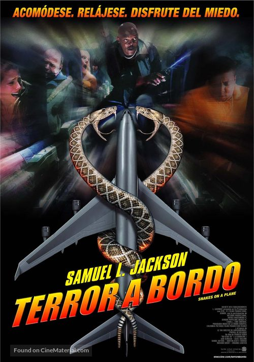 Snakes on a Plane - Uruguayan Movie Poster