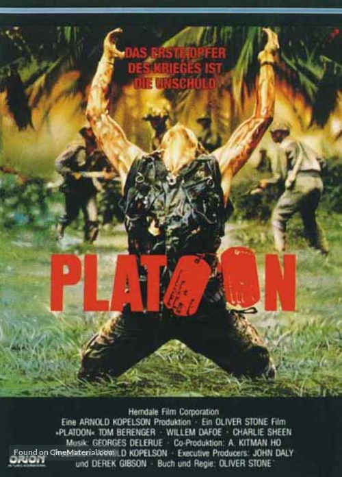 Platoon - German Movie Cover