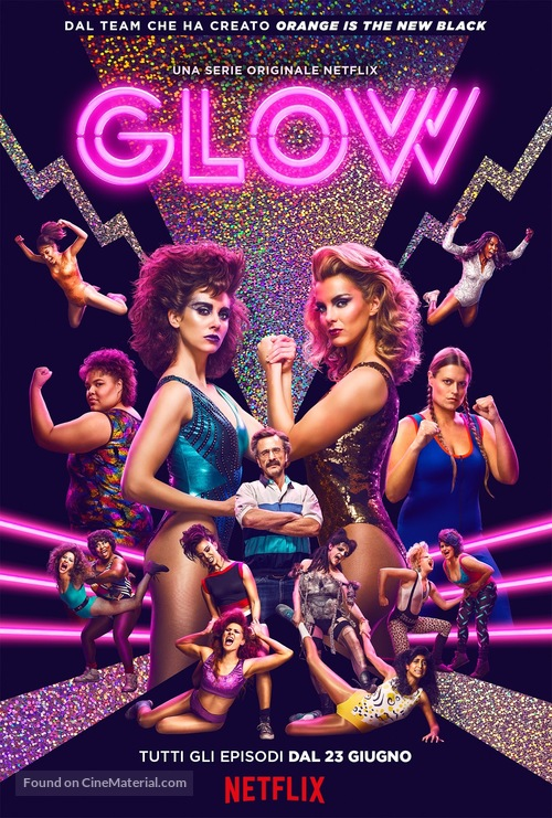"""GLOW"" - Italian Movie Poster"