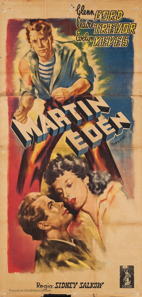 The Adventures of Martin Eden - Italian Movie Poster