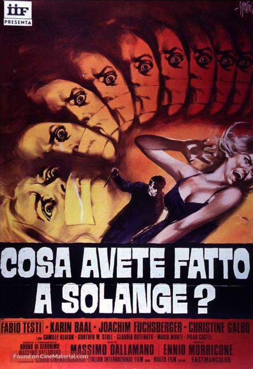 Cosa avete fatto a Solange? - Italian Movie Poster