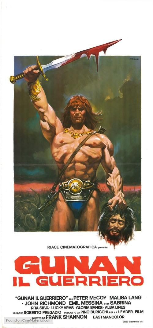 Gunan il guerriero - Italian Movie Poster