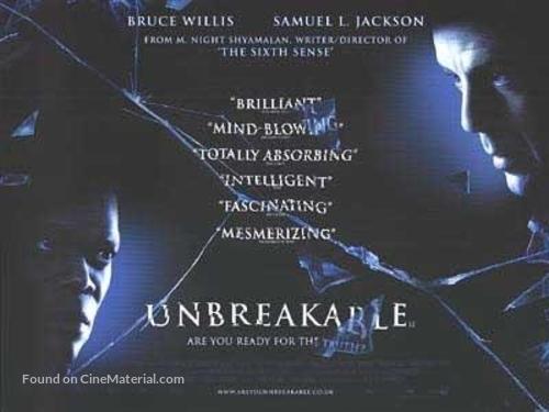 Unbreakable - British Movie Poster