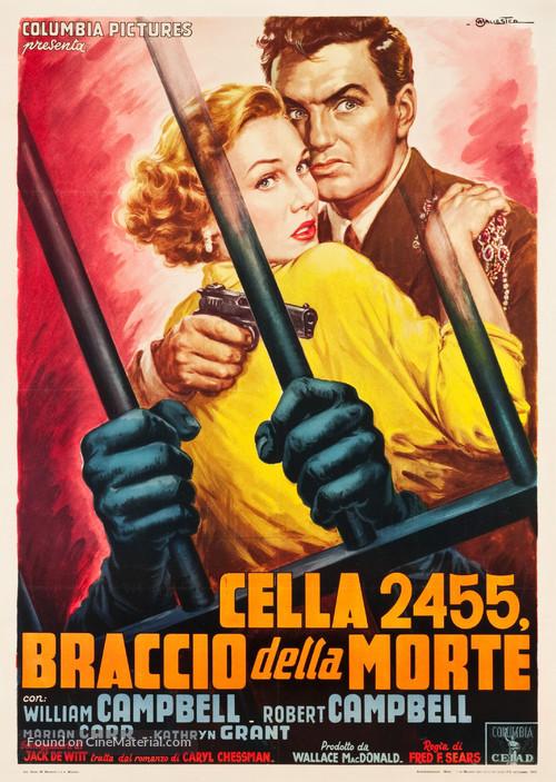 Cell 2455 Death Row - Italian Movie Poster