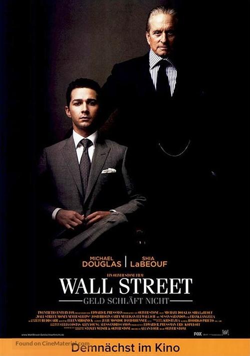 Wall Street - German Movie Poster
