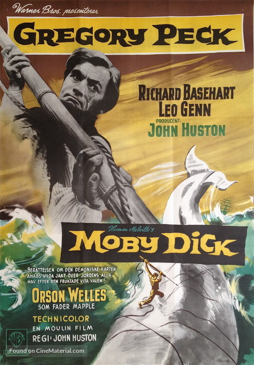 Moby Dick - Swedish Movie Poster