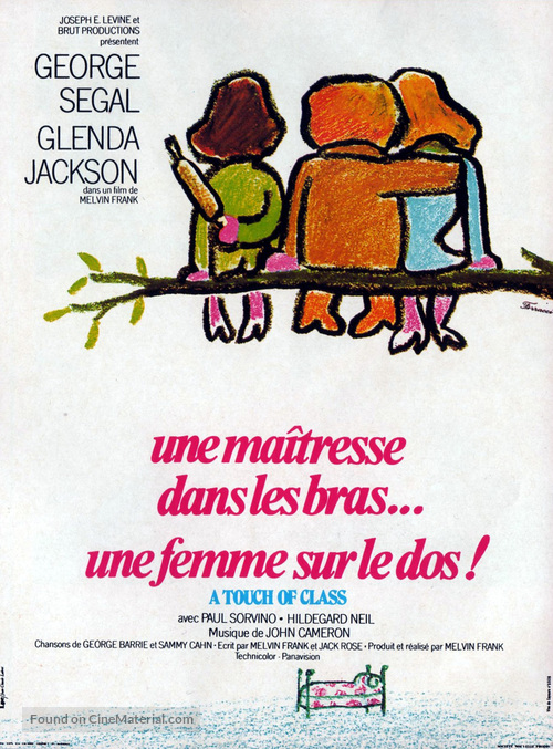 A Touch of Class - French Movie Poster