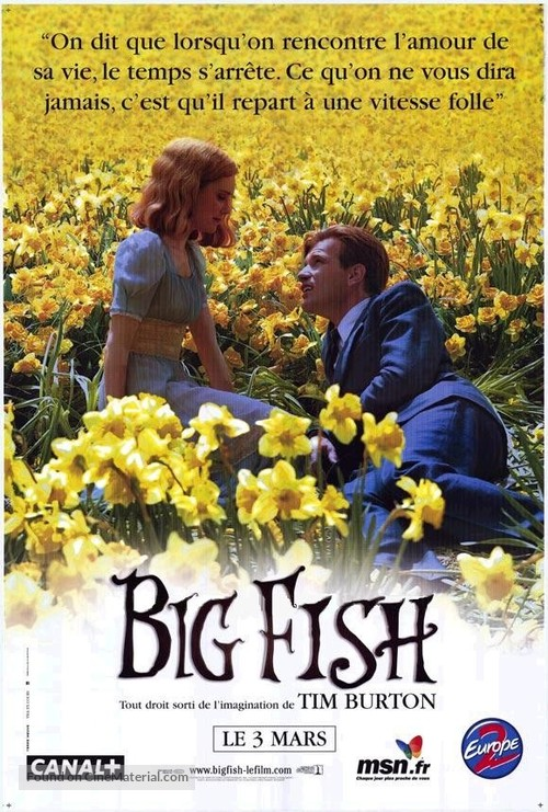 big fish french movie poster