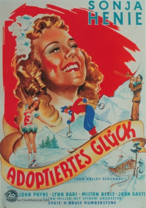 Sun Valley Serenade - German Movie Poster