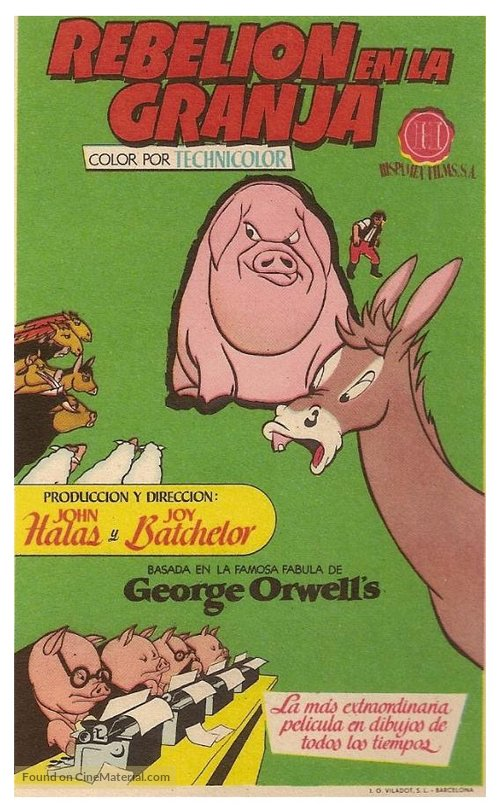 Animal Farm (1954) Spanish movie poster