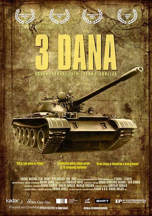 3 Dana - Bosnian Movie Poster