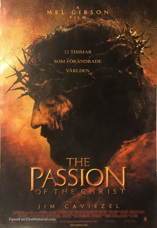 The Passion of the Christ - Swedish Movie Poster