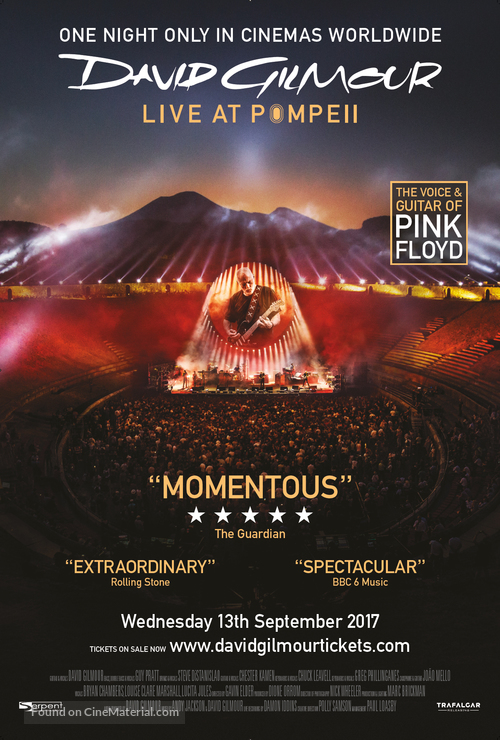 David Gilmour Live at Pompeii - British Movie Poster