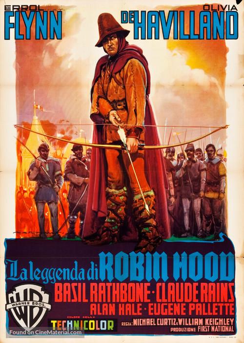 The Adventures of Robin Hood - Italian Movie Poster