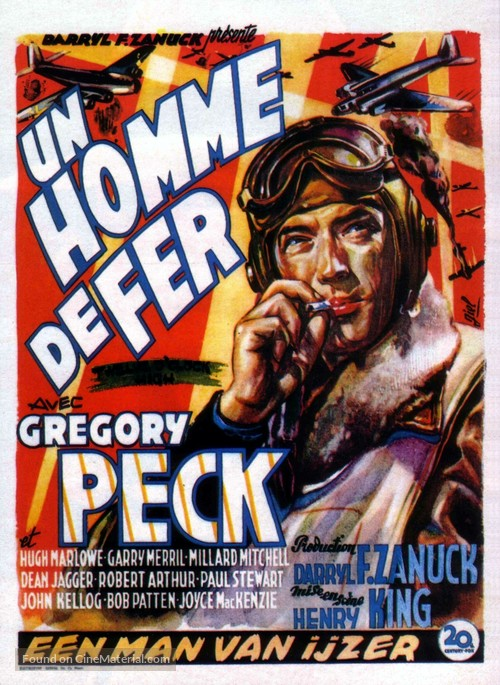 Twelve O'Clock High - Belgian Movie Poster