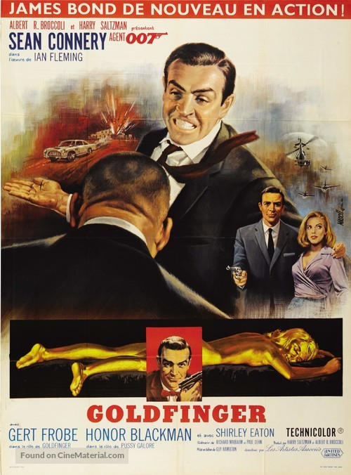 Goldfinger - French Movie Poster