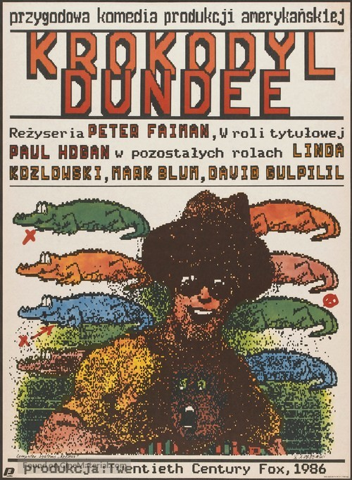 Crocodile Dundee - Polish Movie Poster