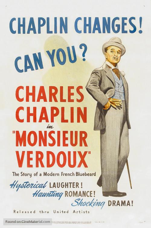 Monsieur Verdoux - Theatrical movie poster
