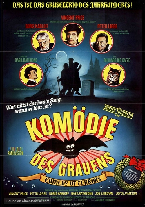 The Comedy of Terrors - German Movie Poster
