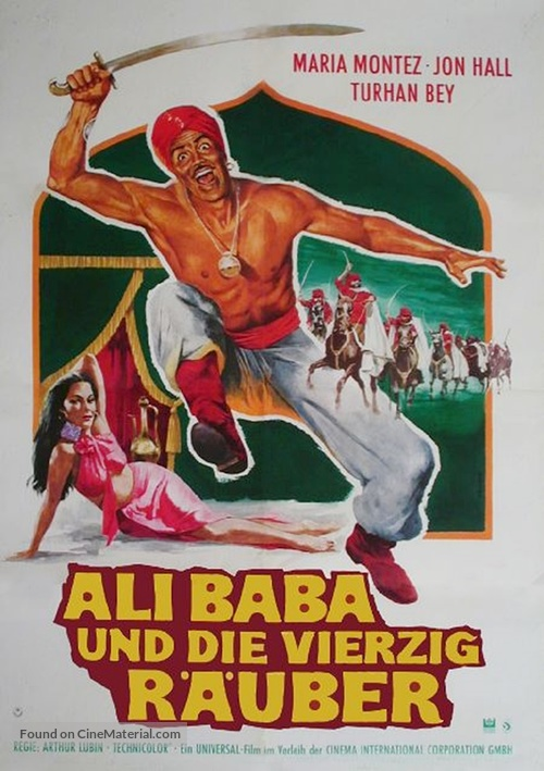 Ali Baba and the Forty Thieves German movie poster