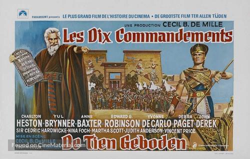 The Ten Commandments - Belgian Movie Poster