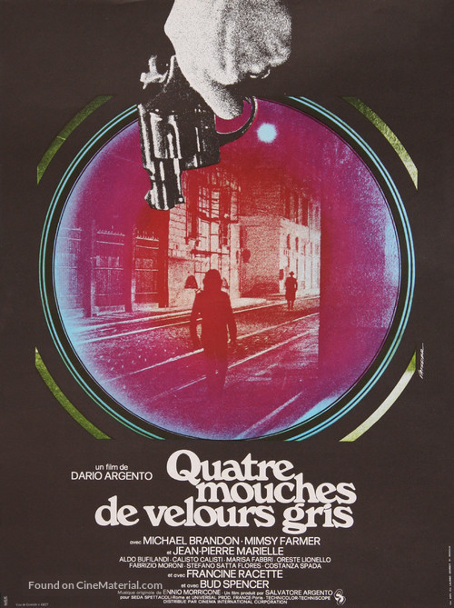 4 mosche di velluto grigio - French Movie Poster