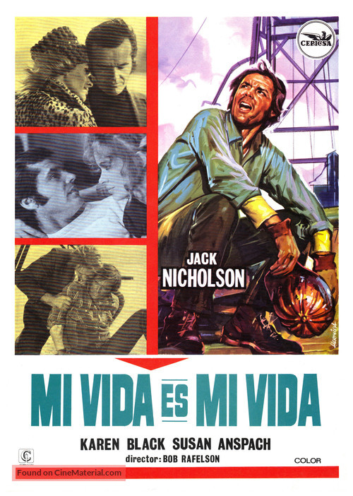 Five Easy Pieces - Spanish Movie Poster