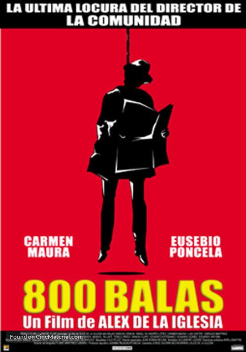 800 balas - Spanish Movie Poster