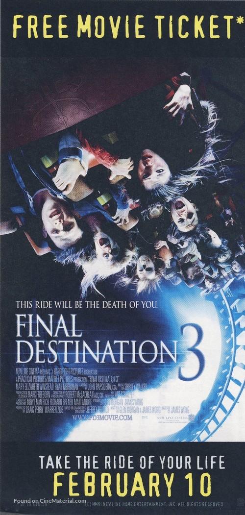 Final Destination 3 - Movie Poster