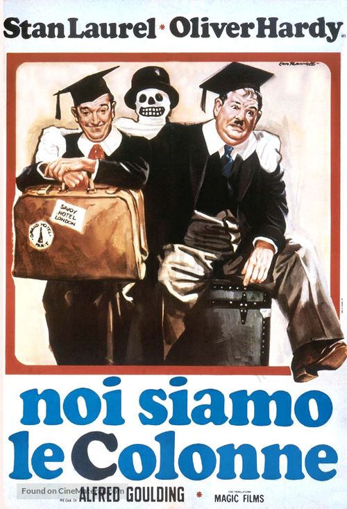 A Chump at Oxford - Italian Movie Poster