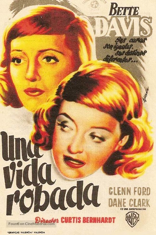 A Stolen Life Spanish movie poster