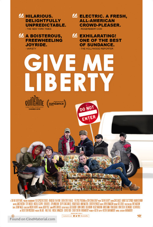 Image result for Give Me Liberty movie poster