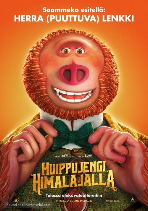 Missing Link - Finnish Movie Poster