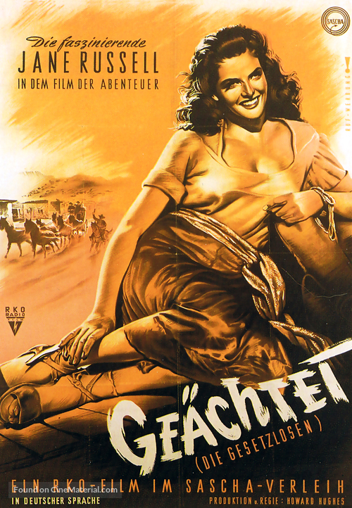 The Outlaw - German Movie Poster