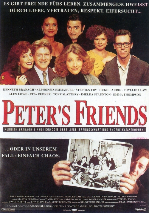 Peter's Friends - German Movie Poster