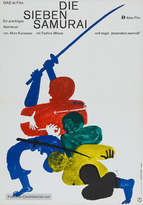 Shichinin no samurai - German Theatrical movie poster
