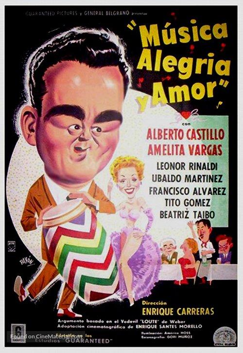 Música, alegría y amor - Argentinian Movie Poster