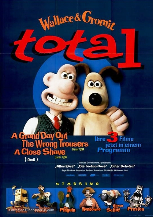 Wallace & Gromit: The Best of Aardman Animation - German Movie Poster