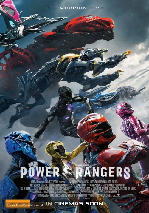Power Rangers - Australian Movie Poster