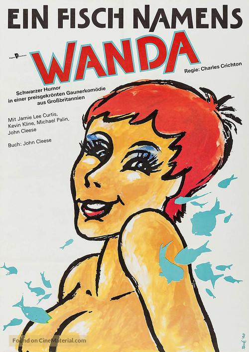 A Fish Called Wanda - German Movie Poster