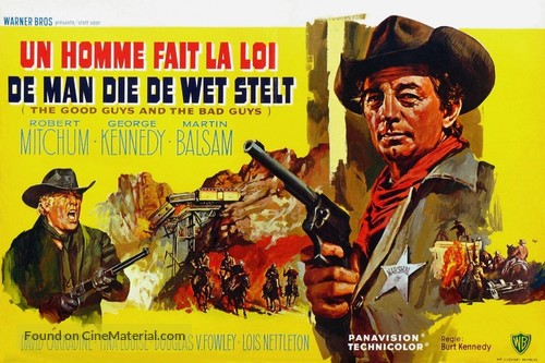 The Good Guys and the Bad Guys - Belgian Movie Poster